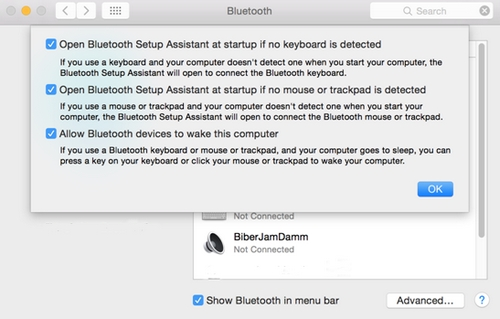 Preferensi Lanjutan Bluetooth