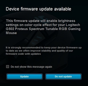 Update Firmware 103 1 10 For The G502 Rgb Gaming Mouse