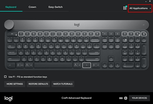 Craft keyboard Crown features in Adobe Lightroom Classic CC