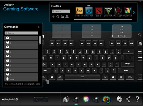 Customize function keys on the G810 gaming keyboard with Logitech