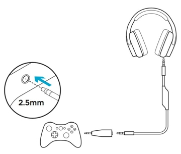 Connect the G933 gaming headset to compatible devices