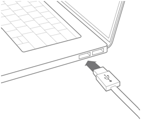 Connect USB to Computer