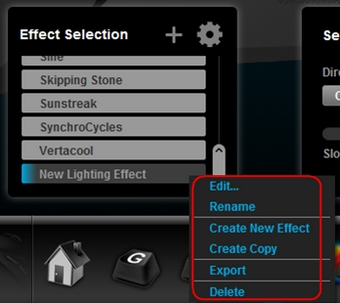 Create and manage lighting effects with Logitech Gaming Software