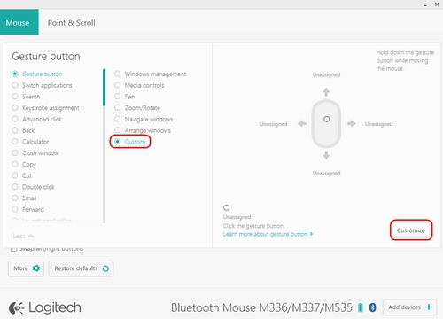 cc2636dbe6b Customize M535 / M336 / M337 mouse gestures with Logitech Options ...