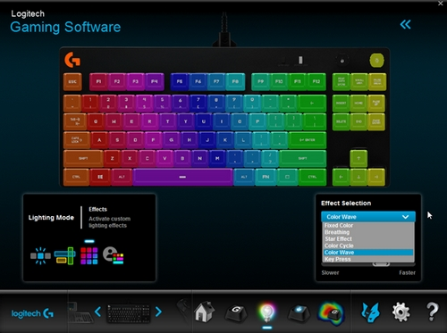 Customize lighting settings on the Pro Gaming Keyboard with Logitech